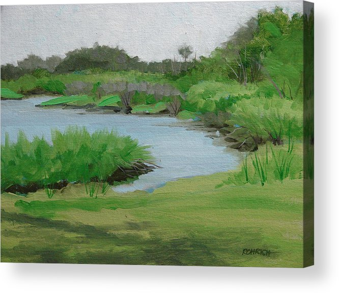 Landscape Acrylic Print featuring the painting Bulow Woods Creek by Robert Rohrich