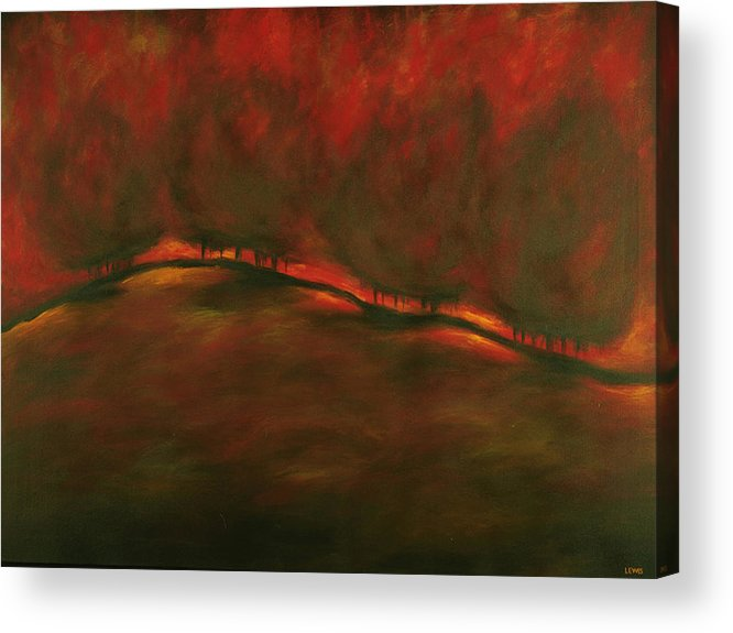 Fire Acrylic Print featuring the painting Burn by Ellen Lewis