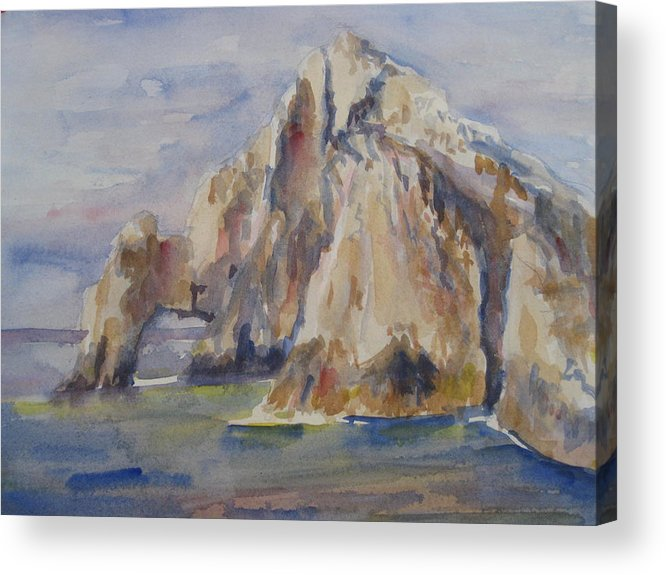 Landscape Acrylic Print featuring the painting Cabo Arch by Joyce Kanyuk
