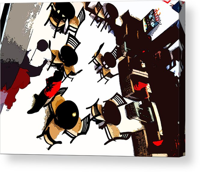 Still Life Acrylic Print featuring the photograph Cafe Coffee Day by Padamvir Singh