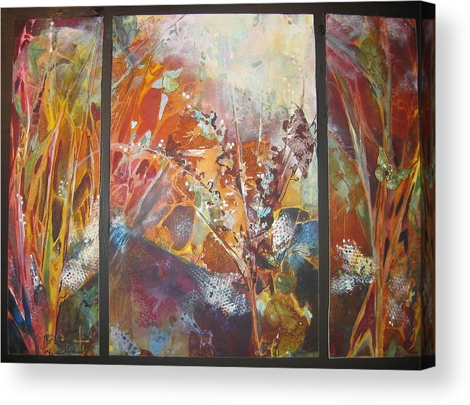 Imprints Acrylic Print featuring the painting Calypso Joy by Mary Sonya Conti