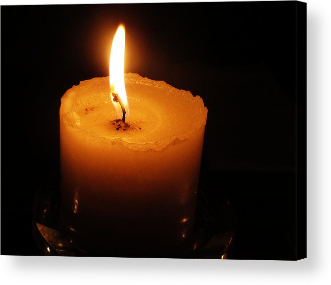 Candles Acrylic Print featuring the photograph Candlelight by Vijay Sharon Govender