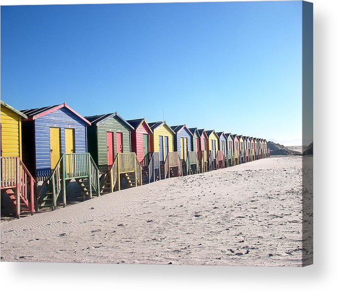 Cape Town Acrylic Print featuring the photograph Cape Town Beachhuts by Linda Russell