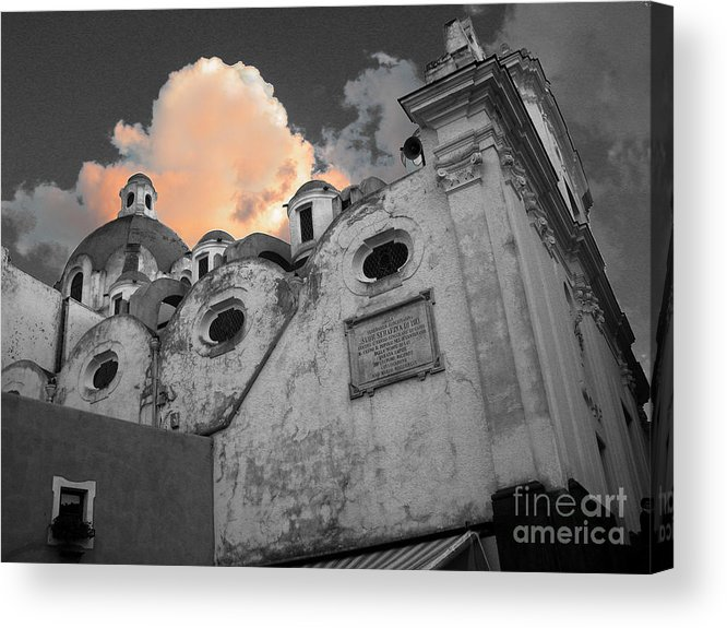Church Acrylic Print featuring the photograph Capri Church by Jim Wright
