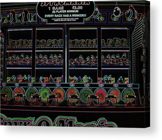 Carnival Acrylic Print featuring the digital art Carnival Game On Velvet by Anne Cameron Cutri