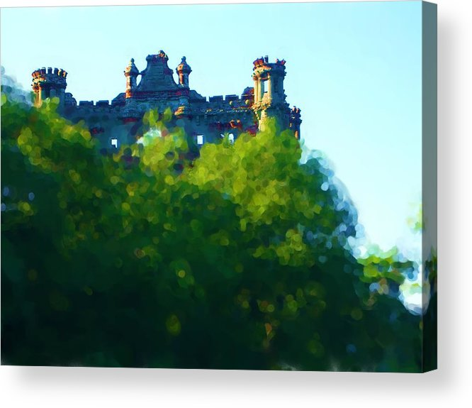 Acrylic Print featuring the painting Castle In The Sky   Going Home by Jonathan Galente