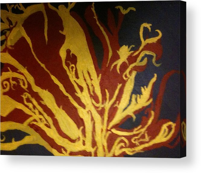 Abstract Acrylic Print featuring the painting 'catalyst' by Chris Heitzman