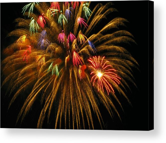 Fireworks Acrylic Print featuring the photograph Celebrate by Rhonda Barrett