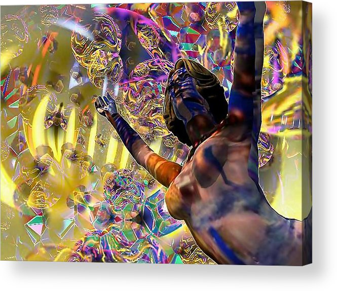 Woman Acrylic Print featuring the digital art Celebration Spirit by Dave Martsolf
