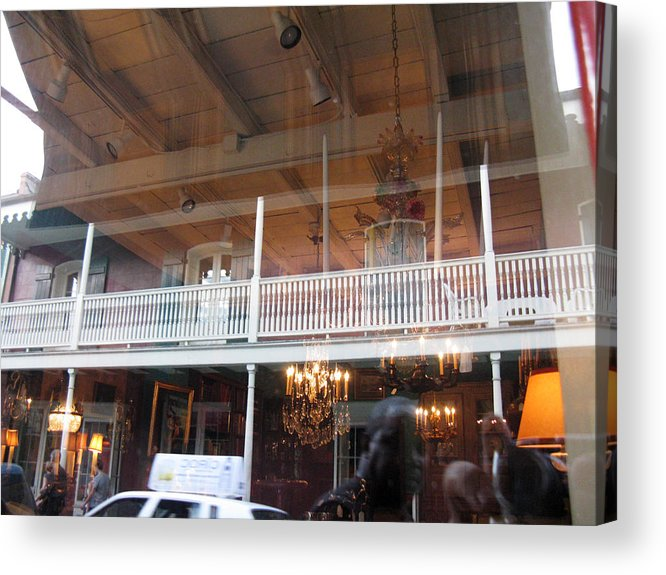 Window Acrylic Print featuring the photograph Chandeliers by Tom Hefko