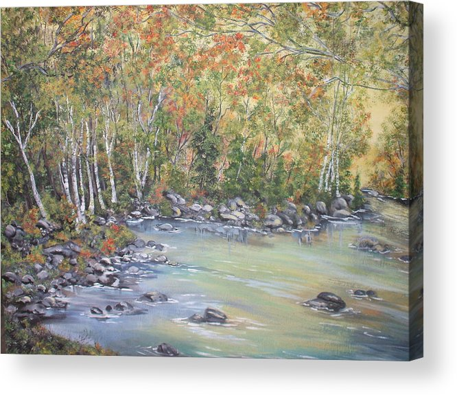 Fall Acrylic Print featuring the painting Changing Seasons by Bev Neely