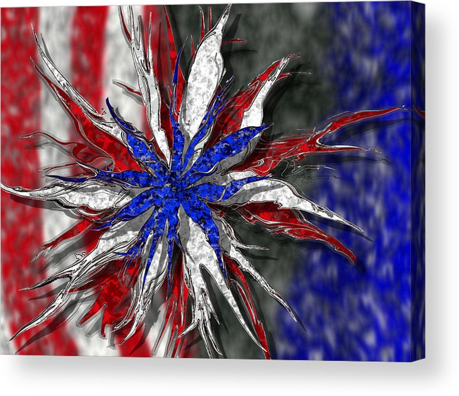 Abstract Art Acrylic Print featuring the digital art Chaotic Star Project - Take 3 by Scott Hovind