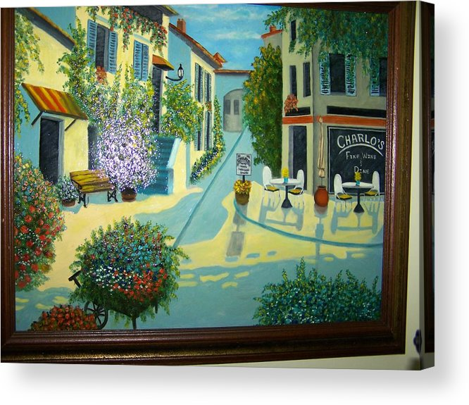 Italian Acrylic Print featuring the painting Charlo's Place by Charles Vaughn