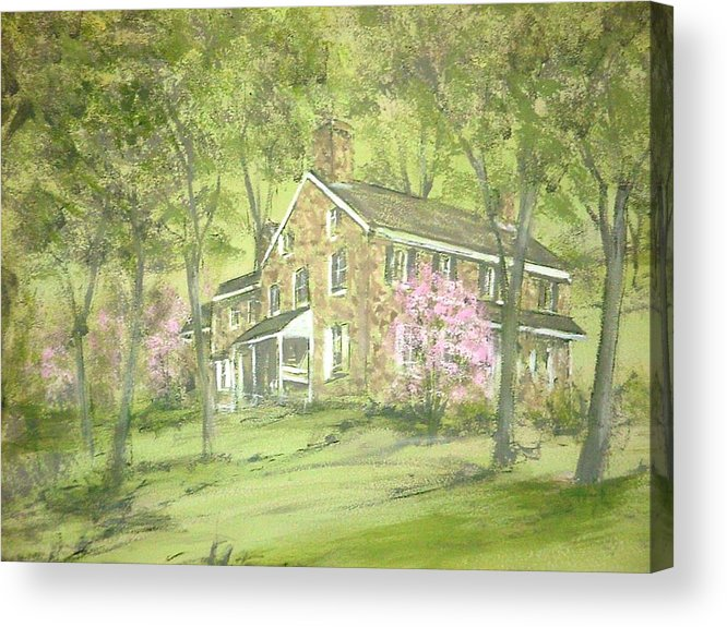 Landscape Acrylic Print featuring the painting Chester Springs by David Bruce Michener