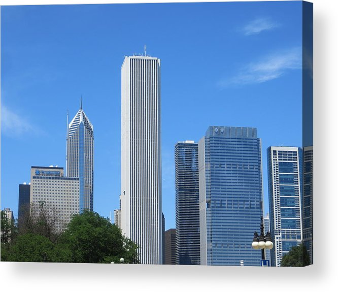 Chicago Acrylic Print featuring the photograph Chicago Skyline 6 by Cindy Kellogg