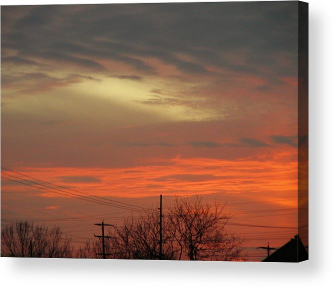 Landscape Acrylic Print featuring the photograph City Light by Peter McIntosh