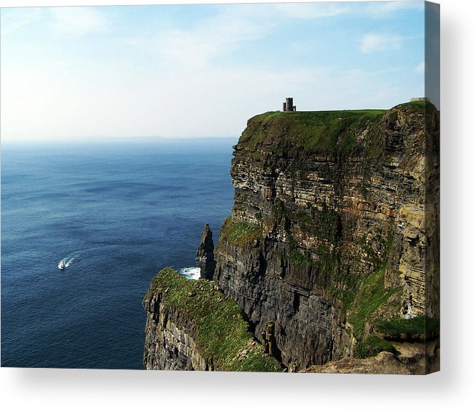 Irish Acrylic Print featuring the photograph Cliffs Of Moher Ireland by Teresa Mucha