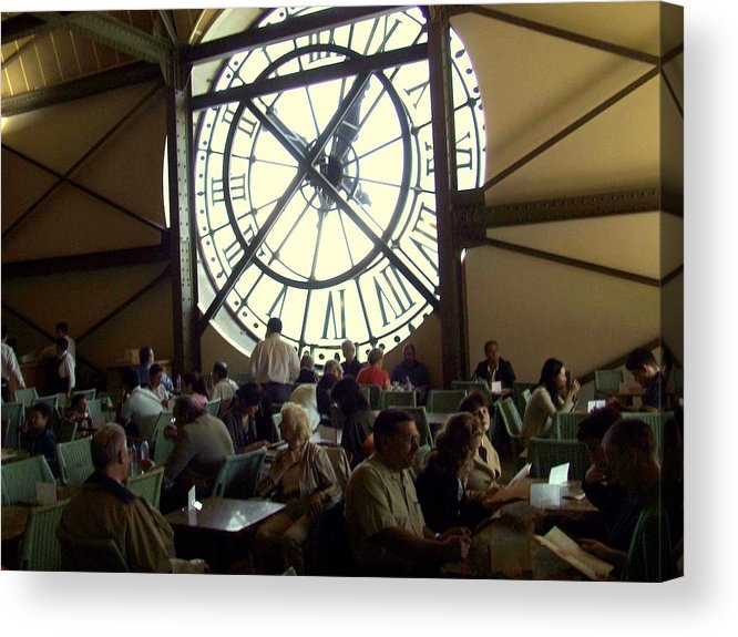 Acrylic Print featuring the photograph Clockwork Cafe by Rusty Gladdish