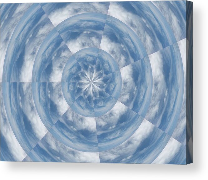 Kaleidoscope Acrylic Print featuring the photograph Cloud Fractal by Judy Ford