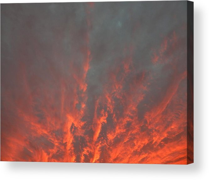 Landscape Acrylic Print featuring the photograph Clouds 57 by George Ramos