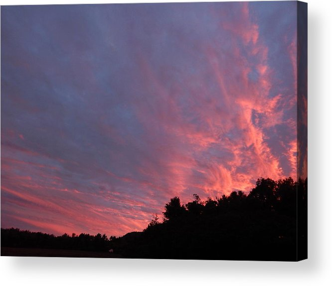Landscape Acrylic Print featuring the photograph Clouds 58 by George Ramos
