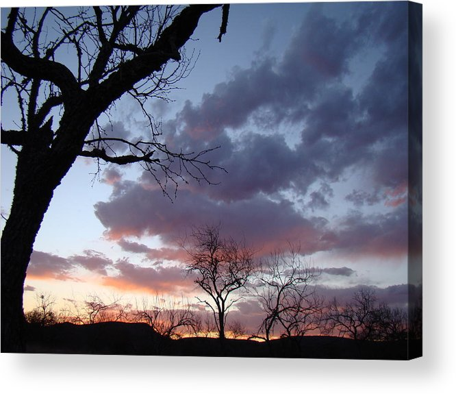Sunset Acrylic Print featuring the photograph Cloudy Sunset One by Ana Villaronga