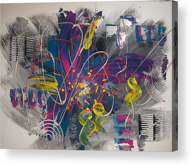 Acrylic Acrylic Print featuring the mixed media Color Explosion by Sonja Palussek