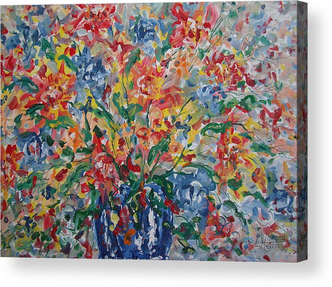 Painting Acrylic Print featuring the painting Color Expressions. by Leonard Holland