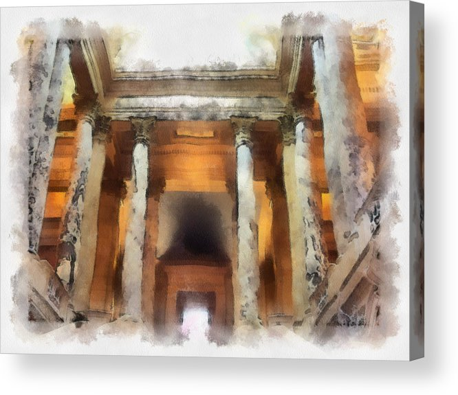 Columns Acrylic Print featuring the photograph Columns by Paulette B Wright