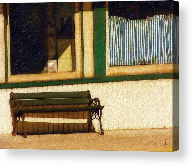 Bench Acrylic Print featuring the photograph Come Sit A Spell by Sandy MacGowan