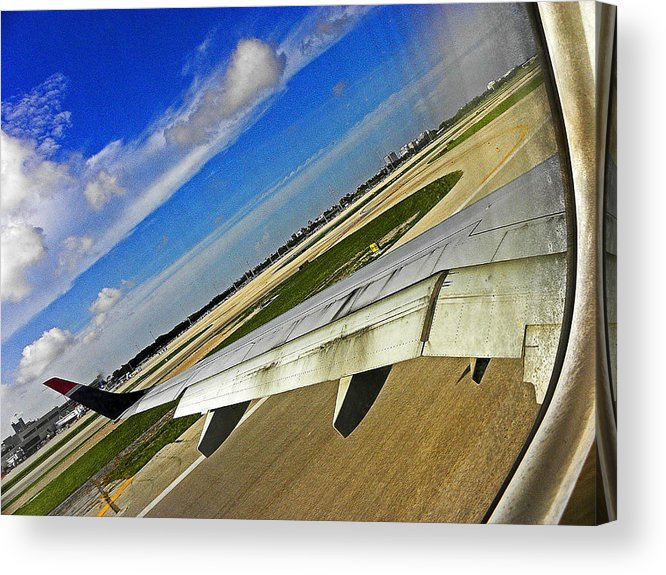 Window Acrylic Print featuring the photograph Coming In For A Landing II by Elizabeth Hoskinson