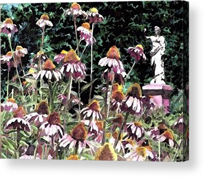 Flowers Acrylic Print featuring the painting Coneheads by Jim Phillips