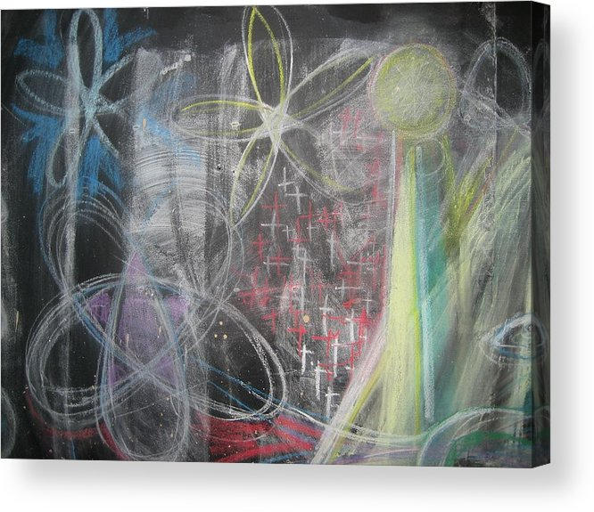 Chalk Acrylic Print featuring the photograph Conflagration Of Light And Form by Stephen Hawks