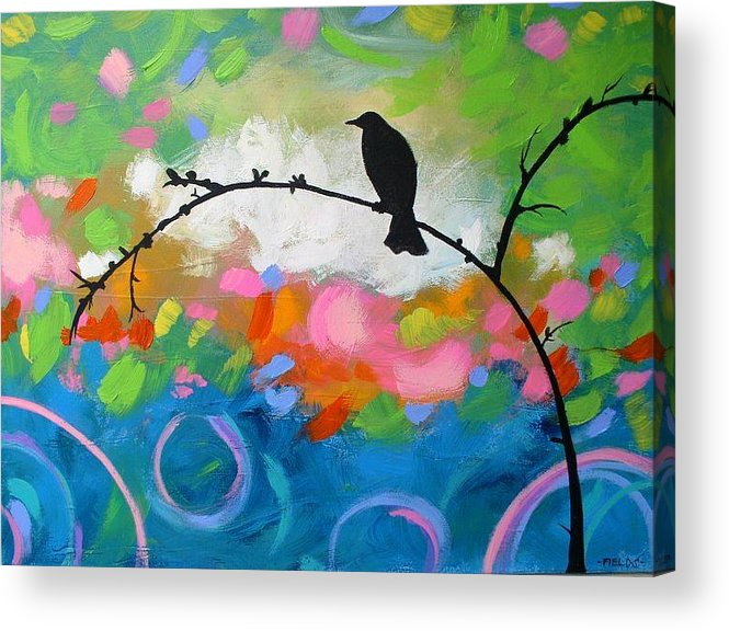 Acrylic Print featuring the painting Contemplation by Karen Fields