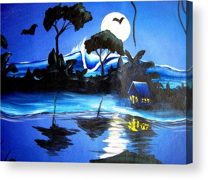 Surf Acrylic Print featuring the painting Costarica Nightlife by Ronnie Jackson