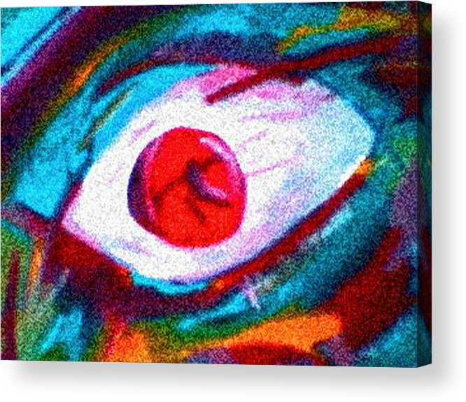 Eye Acrylic Print featuring the digital art Cought In Her Eye by John Toxey