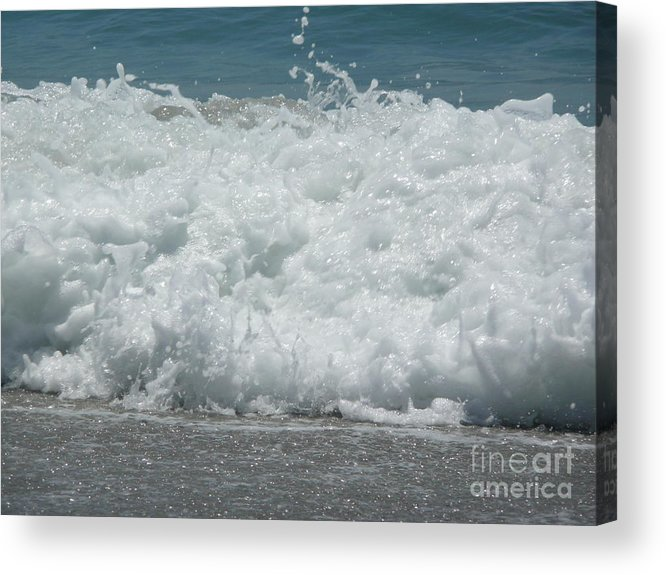 Acrylic Print featuring the photograph Crashing Waves by Barb Montanye Meseroll