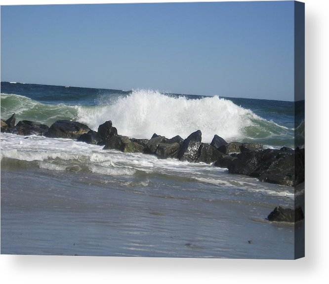 Waves Acrylic Print featuring the photograph Crashing Waves by Donna Davis
