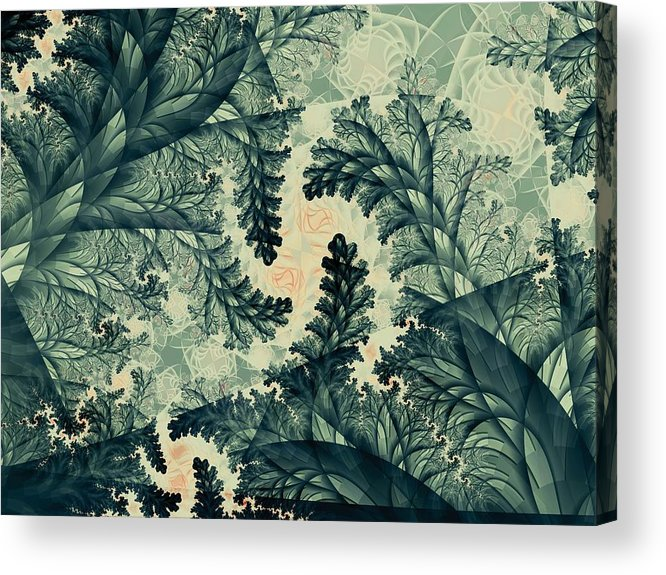 Plant Acrylic Print featuring the digital art Cubano Cubismo by Casey Kotas