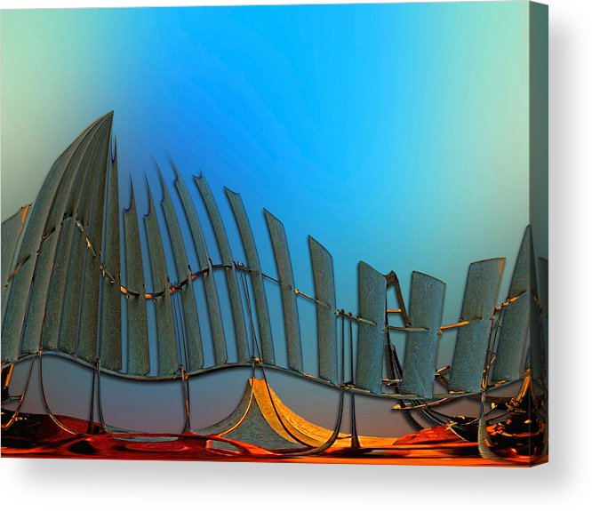 Da Vinci Acrylic Print featuring the digital art Da Vinci's Outpost by Wendy J St Christopher