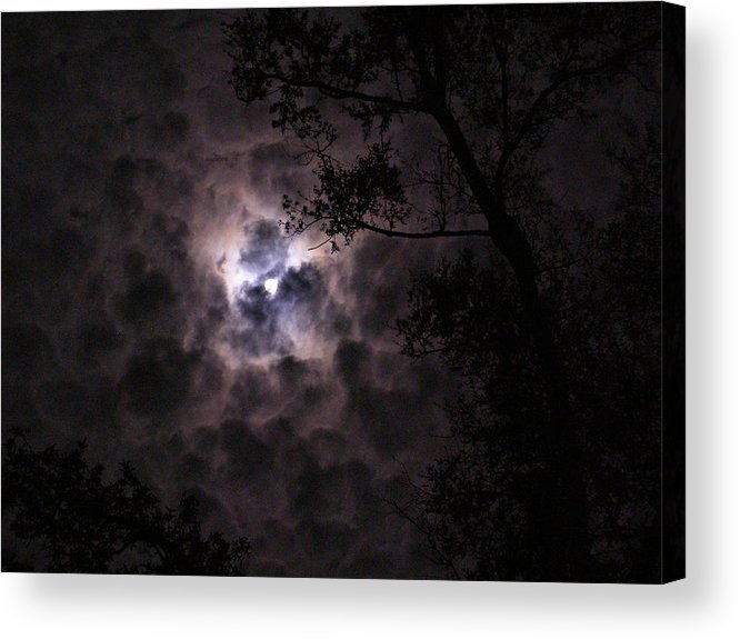 Moon Acrylic Print featuring the photograph Dark And Stormy Night by Jim Cooper