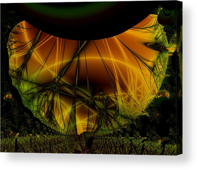 Abstract Acrylic Print featuring the digital art Dark Woods by Frederic Durville