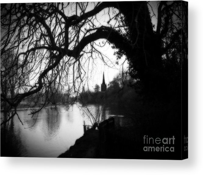 Tree Acrylic Print featuring the photograph Darkness Looms Over The Avon by Sue Melvin