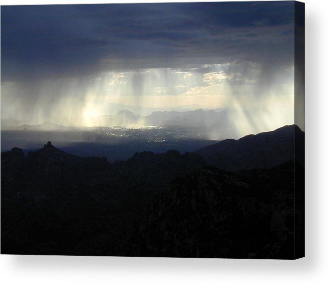 Darkness Acrylic Print featuring the photograph Darkness Over The City by Douglas Barnett