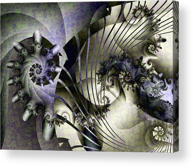 Fractal Acrylic Print featuring the digital art David's Lyre by David April