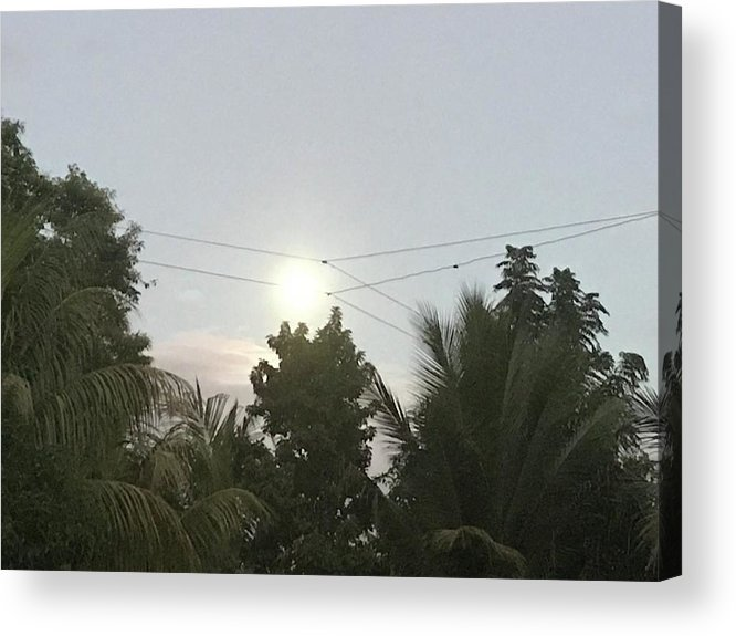 Moon Acrylic Print featuring the photograph Day Moon by Vely