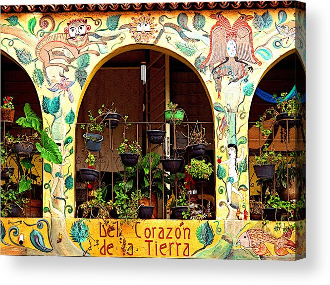 Tlaquepaque Acrylic Print featuring the photograph de la Tierra by Mexicolors Art Photography