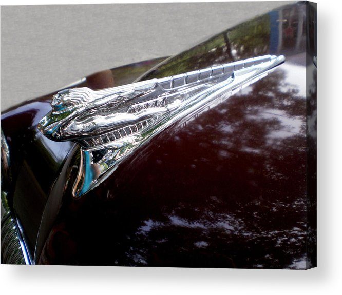 Cars Acrylic Print featuring the photograph Deco Desoto by Jan Amiss Photography