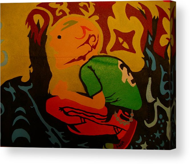 Deftones Acrylic Print featuring the painting Deftones Band by Heinrich Haasbroek