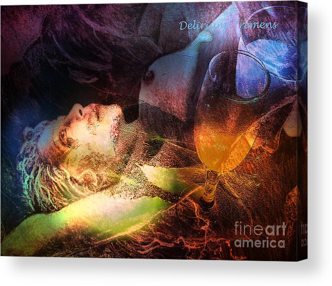 Fantasy Acrylic Print featuring the painting Delirium Tremens by Miki De Goodaboom